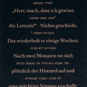 Jüdische Witze: Herr, Mach, Dass Ich Gewinn Die Lotterie!
