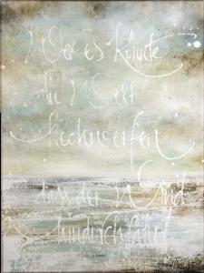 """Das Bild zeigt die ARTLIT-Hilde-Domin-Kalligrafie """"Wagnis Utopie"""" von Jeannine Platz."""