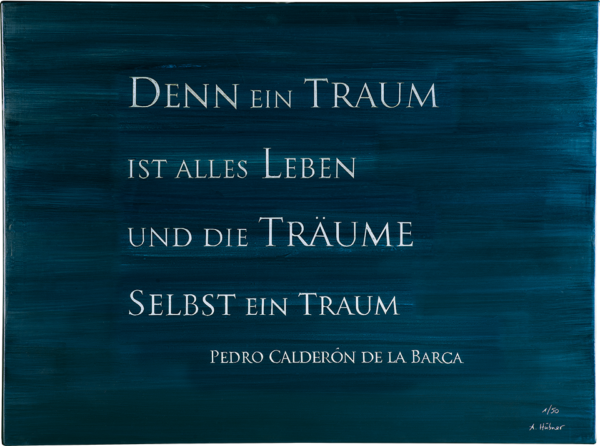 """Das Bild zeigt die ARTLIT-Silberradierung """"Wagnis Wirklichkeit"""" von Anna Hübner."""
